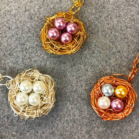 Bird Nest Pendants