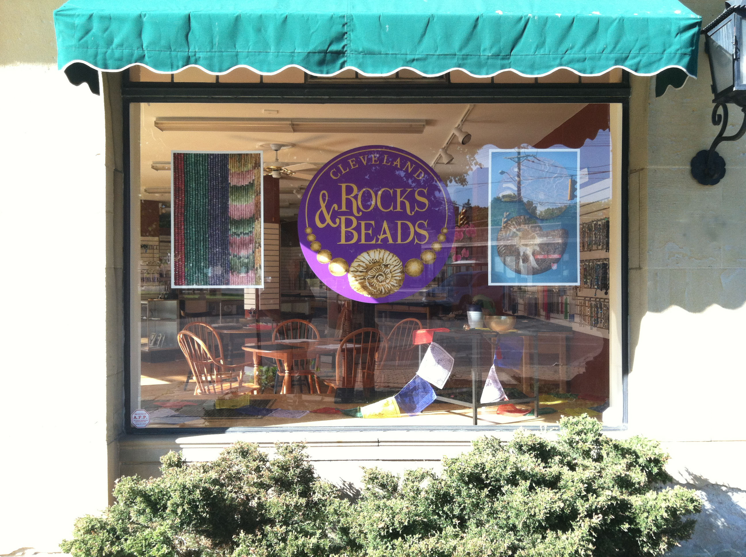 Cleveland Rocks and Beads Window