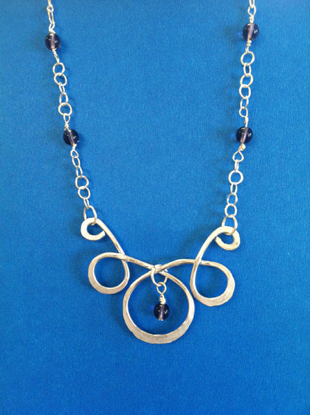 Hammered Aluminum Pendant Necklace
