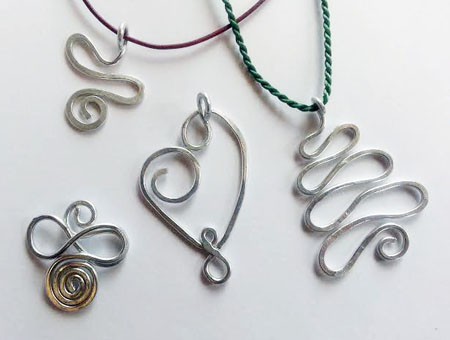 Hammered Wire Pendants