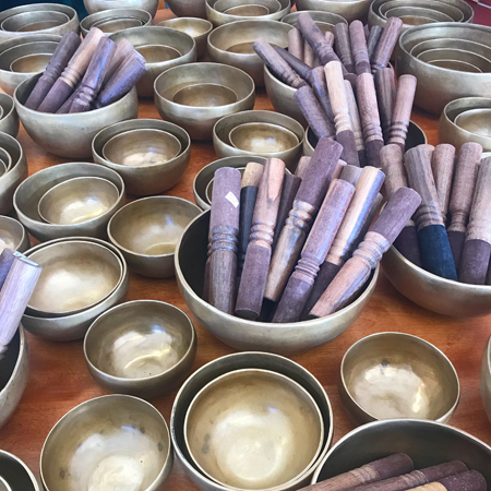 Singing Bowls and Sticks